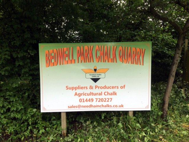 Bedwell Park chalk quarry.