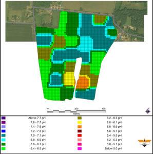 GPS precision sampling map.